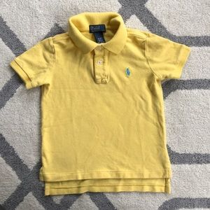 Polo shirt, yellow. 4t